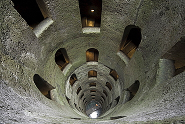 Well with a spiral staircase, Pozzo di San Patrizio, Orvieto, Umbria, Italy, Europe