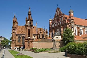 Gothic ensemble St. Anna and Bernardiniu church, Vilnius, Lithuania