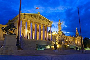 Parliament with Pallas Athene, Vienna, Austria