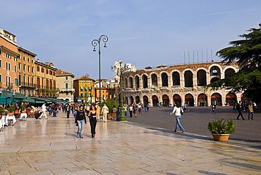 Piazza Bra and Arena di Verona, Verona, Italy