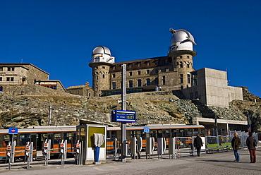 Gornergrat Mountain Railway at Station Gornergrat and Observatory, Zermatt, Switzerland