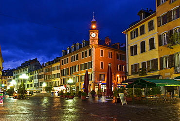 Place de Horloge, clocktower, Chambery, Savoie, Rhones-Alpes, France