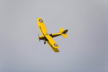Biplane in the case of a flight show - model Kiebitz D-EDEM