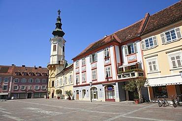Main square in Bad Radkersburg, Styria, Austria