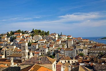 Look at the seaport Hvar, Island Hvar, Dalmatia, Croatia