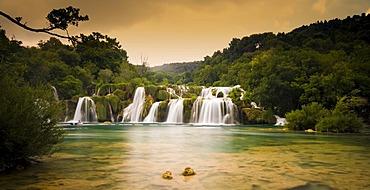 National park Krka waterfalls, Dalmatia, Croatia