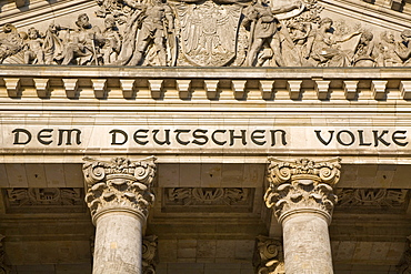 Detail of the Reichstag, Berlin, Germany
