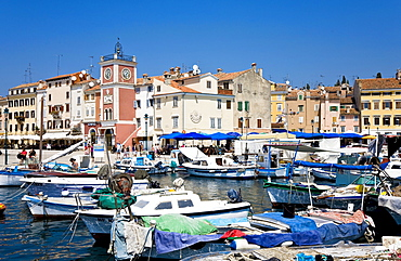 Harbour of Rovinj Istria Croatia