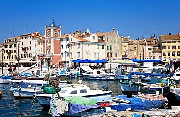 Harbour of Rovinj Istria Croatia