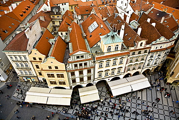 Housesin the old Town Square Prague Czechia