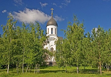 Small Church at the National Memorial Place, Omsk at the Rivers of Irtisch and Omka, Omsk, Sibiria, Russia, GUS, Europe,