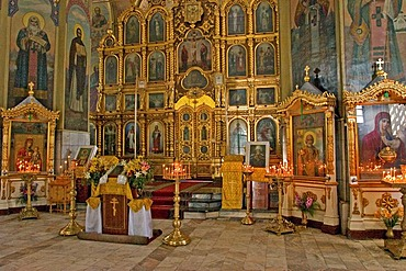 Picture inside of the Christian Tarskaya Church in Omsk, Omsk at the Rivers of Irtisch and Omka, Omsk, Sibiria, Russia, GUS, Europe,