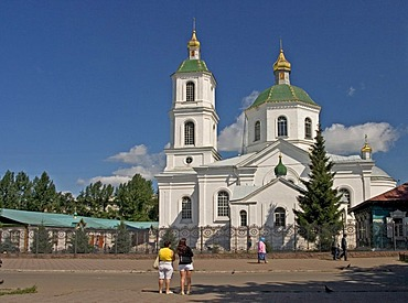 Tarskaya Church at Omsk, Oldest Church of Omsk, Omsk at the Rivers of Irtisch and Omka, Omsk, Sibiria, Russia, GUS, Europe,
