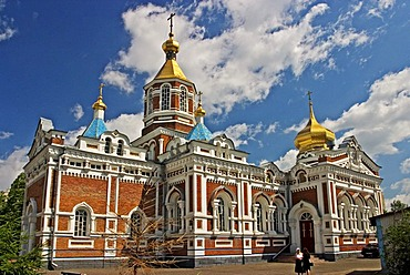 Church of Holy Nicolai, second oldest Church of Omsk, Omsk at the Rivers of Irtisch and Omka, Omsk, Sibiria, Russia, GUS, Europe,