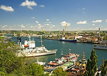 Harbour with Ships, Sevastopol, Crimea, Ukraine, South-Easteurope, Europe,