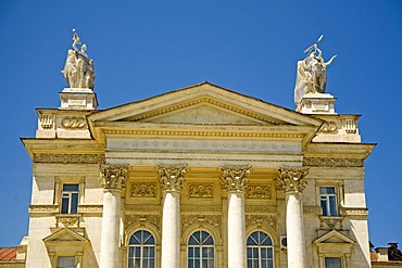 Old Theater Building with Columns and Figures, Sevastopol, Crimea, Ukraine, South-Easteurope, Europe,