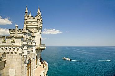 The Castle Swallow Nest at the Cape Air-Todor, Jalta, Crimea, Ukraine, South-Easteurope, Europe,