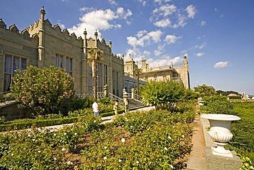 Park at the Voroncov Palace, Jalta, Crimea, Ukraine, South-Easteurope, Europe,