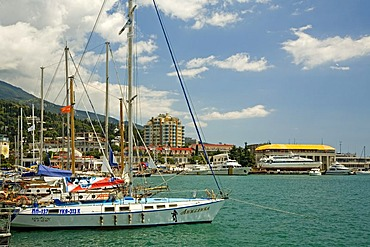 Yacht Harbour with Ships, Jalta, Crimea, Ukraine, South-Easteurope, Europe,