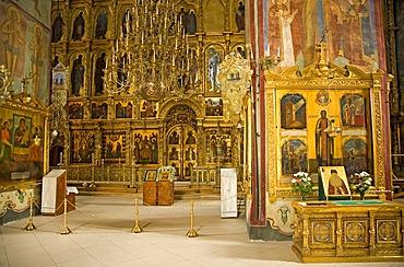 Interior of the Holy Spirit Church, Sergiyev Posad, Moscow Oblast, Russia
