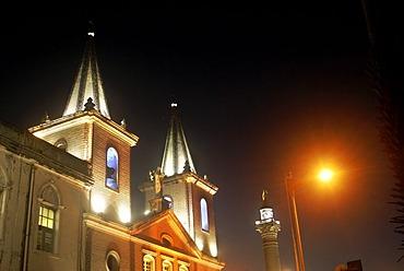 The chirch Nossa Senhora da Conceicao da Prainha at Night, Fortaleza, Brazil