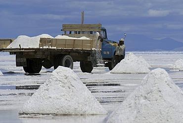 Salt excavation, Salar de Uyuni, Bolivia