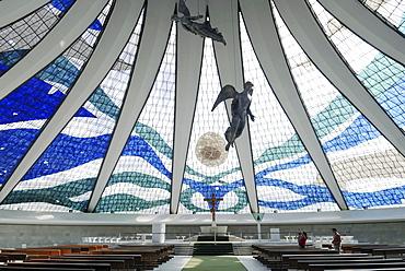 "Inside the cathedral ""Nossa senhora da Aparecida"", Brasilia, Brazil. Architect: Oscar Niemeyer"