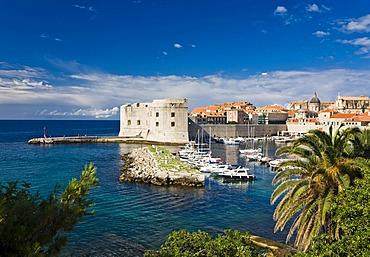 Dubrovnik Harbour and Historic Centre, Ragusa, Dubrovnik-Neretva, Dalmatia, Croatia, Europe