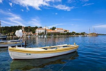 Boat in the port of Pomena, Mljet Island, Dubrovnik-Neretva, Dalmatia, Croatia, Europe