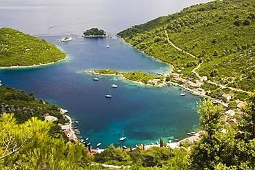 Port of Prozurska Luka, Mljet Island, Dubrovnik-Neretva, Dalmatia, Croatia, Europe