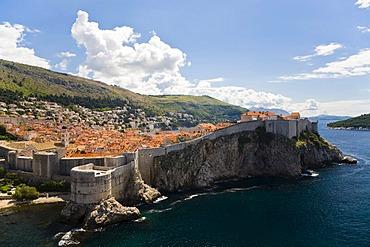 City wall and historic city centre of Dubrovnik, Ragusa, Dubrovnik-Neretva, Dalmatia, Croatia, Europe