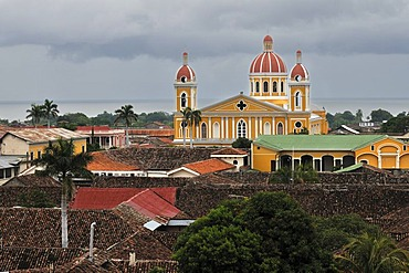 View of the Cathedral, Granada, Nicaragua, Central America