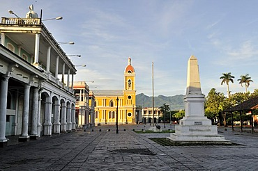 Cathedral and Colonial Buildings, Granada, Nicaragua, Central America