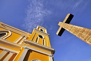 Stone Cross outside the Cathedral, Granada, Nicaragua, Central America