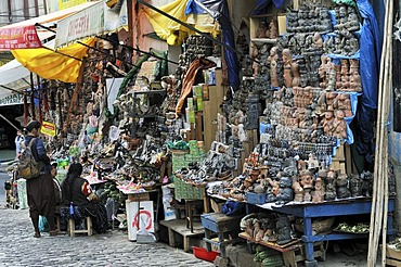 Witch's stall, La Paz, Bolivia, South America