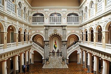 Interior of the Presidential Palace, La Paz, Bolivia, South America