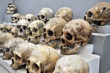Deformed skulls from the Tihuanaku Culture, UNESCO World Heritage, La Paz, Bolivia, South America