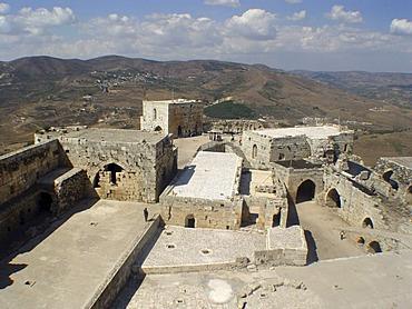 Crac des Chevaliers crusander castle in syria