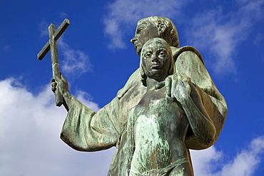 Palma de Mallorca, Fray Junipero Serra statue, founder of San Francisco CA. Balearic Islands, Spain Europe