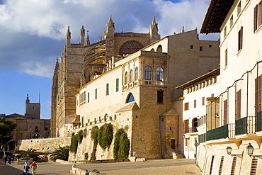 Episcopal Palace and Kathedral, Palma de Mallorca Spain, Balearic Islands, Europe, Spain