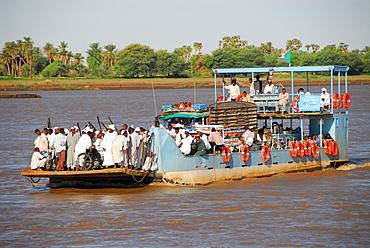 Nile ferry, Karima, Sudan