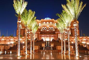 Emirates Palace Hotel by night, Abu Dhabi, United Arab Emirates, Abu Dhabi