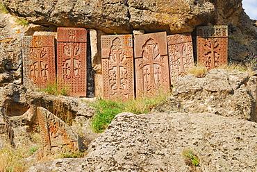 Cross-slabs, Geghard Monastery, Armenien
