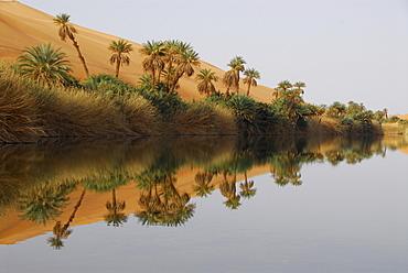 Umm al-Ma'a salt lake, Ubari desert, Libya