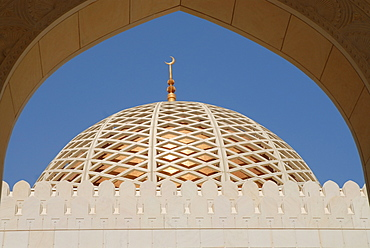 Dome of Sultan Kaboos mosque (Great Mosque), Muscat, Oman