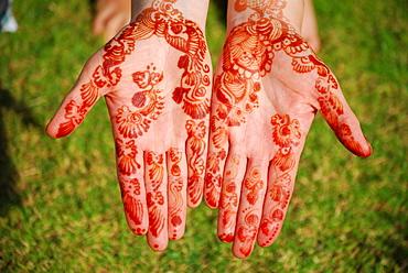 Henna hand tattoo, Muscat, Oman