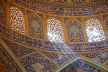 Interior of Sheikh Lotf Allah Mosque at Meidan-e Imam (Imam Square), Isfahan, Iran