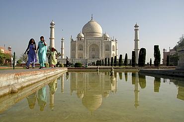 Taj Mahal in the morning light, Agra, India