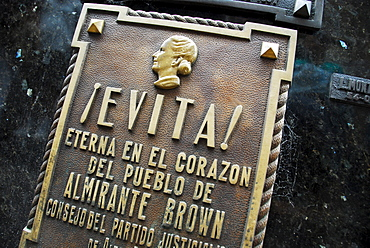 Tomb of Eva Peron at Recoleta cementary, Buenos Aires, Argentina