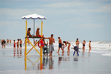 Beach at Pinamar, Buenos Aires province, Argentina